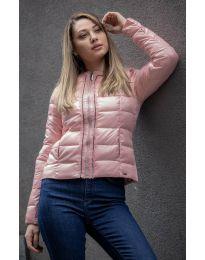 Дамско късо яке в розово - код 4530