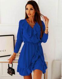 Атрактивна дамска рокля в синьо - код 057878
