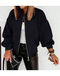 Дамско късо яке в черно - код 7745