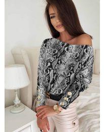 Дамска блуза с ефектен десен - код 5156 - 7