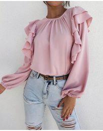 Дамска блуза в цвят пудра - код 1603