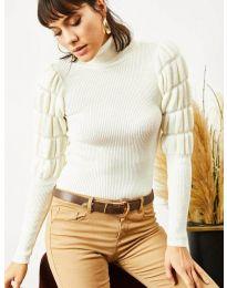 Дамска блуза в бяло - код 0737