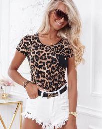 Дамска тениска с атрактивен десен - код 2904