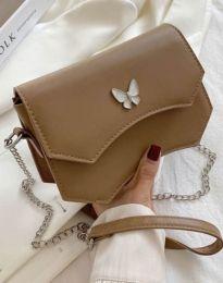 Дамска чанта в цвят капучино - код B434