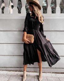 Дамска рокля в черно - код 6522