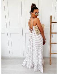 Дълга рокля с бежово райе - код 0560