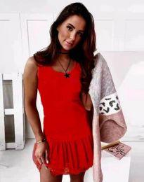 Дамска рокля в червено - код 2994