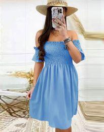 Дамска рокля в светлосиньо - код 1409