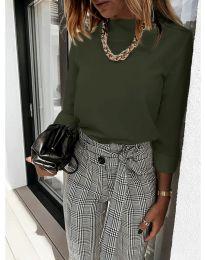 Дамска блуза в зелено - код 9432