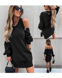 Дамска рокля в черно - код 296