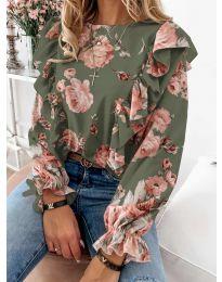 Дамска блуза в зелено - код 4256