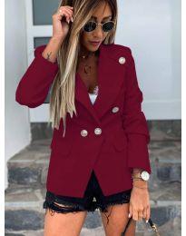 Сако с копчета в цвят бордо - код 2911