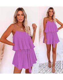 Свободна рокля в лилаво - код 721