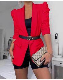 Дамско елегантно сако в червено - код 680