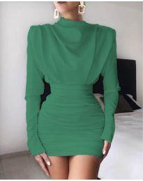 Елегантна дамска рокля в зелено - код 8257