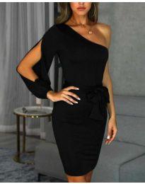Елегантна рокля в черно - код 0579