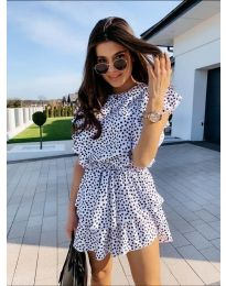 Свободна рокля в бяло - код 7740