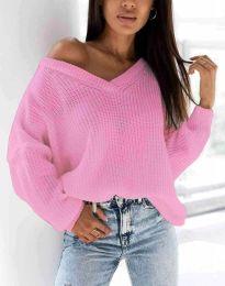 Дамски пуловер в розово - код 0283