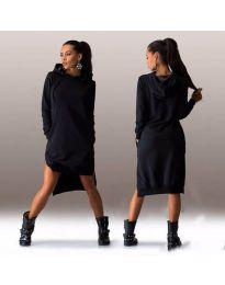 Спортно-елегантна рокля в черно - код 122