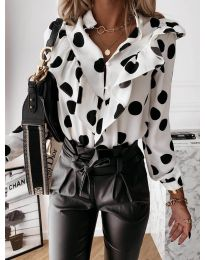 Дамска риза в бяло - код 857