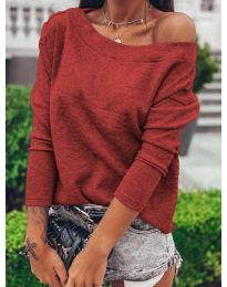 Дамска блуза в бордо - код 4417