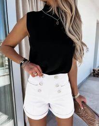 Къси панталонки в бяло - код 6815