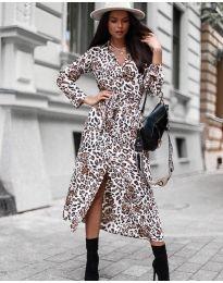 Дамска рокля с атрактивен десен - код 5555 - 3