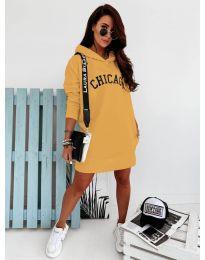 Спортна рокля в цвят горчица - код 802