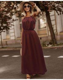 Изчистена рокля в бордо - код 3323