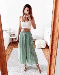 Дамски панталон в цвят мента - код 9406
