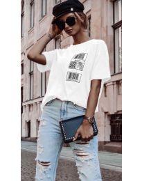 Дамска тениска в бяло - код 963