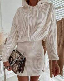 Елегантна дамска рокля в бежово - код 0235