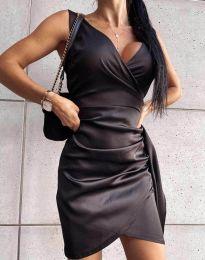 Атрактивна дамска рокля в черно - код 4678