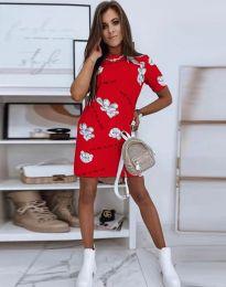 Свободна рокля в червено - код 2906