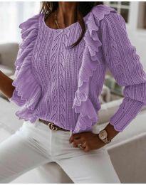 Дамски пуловер в лилаво - код 9087