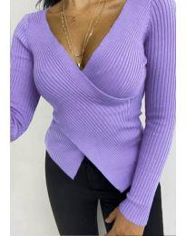 Дамска блуза в лилаво - код 6322
