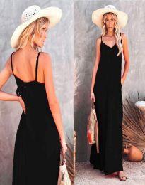 Свободна дамска рокля в черно - код 4673