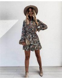 Дамска рокля с атрактивни мотиви - код 248 - 3
