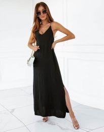 Ефирна рокля в черно - код 11881