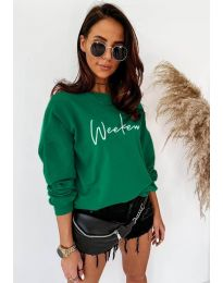 Дамска блуза в зелено - код 917
