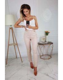 Елегантен дамски панталон в бежово - код 964
