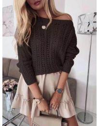 Дамска плетена блуза в черно - код 917