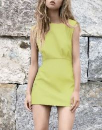 Дамска рокля в жълто - код 1233