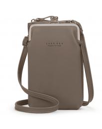 Дамска чанта в тъмно бежово - код B148