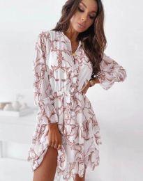Дамска рокля с ефектен десен - код 2550 - 4