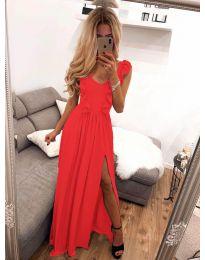 Елегантна рокля в червено - код 673