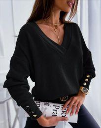 Изчистена дамска блуза в черно - код 5236