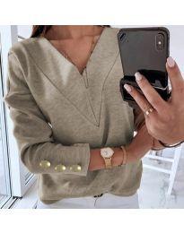 Дамска блуза в бежово - код 0990