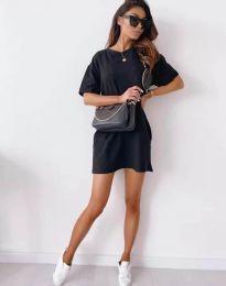 Свободна рокля в черно - код 2231