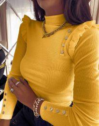 Дамска блуза в жълто - код 11483